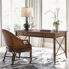 Bal Harbor Marianna Desk in Sienna Rosewood #desk #office #homeoffice #tropical #coastal #storage #beachhouse #lakehouse #homedecor #interiors #interiordesign