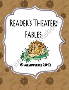 Readers Theater: Fables from mz applebee on TeachersNotebook.com (10 pages)  - This package includes four fable-themed Readers Theater scripts: - The Tortoise and the Hare - The Lion and the Mouse - The Boy Who Cried Wolf - Town Mouse and Country Mouse    This package would be great to use for a unit on fables and as an introd