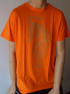 T-shirt Arancio cotone (Pezzo unico)