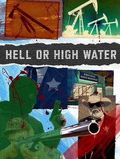 Hell or High Water - Pop art take on 2017 Best Picture nominees: http://shutr.bz/2mEjrhX