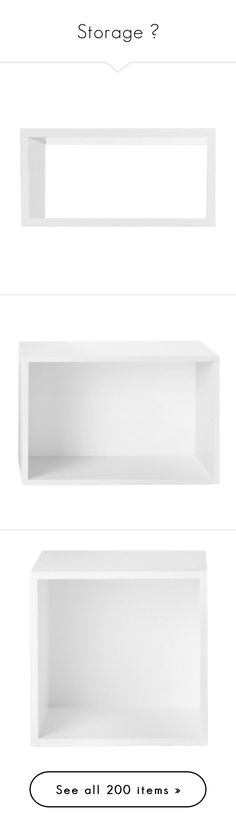 """""""Storage ♥"""" by morana-m ❤ liked on Polyvore featuring furniture, home, shelves, frames, storage & shelves, white painted furniture, white furniture, modular furniture, storage furniture and white storage furniture"""