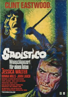 PLAY MISTY FOR ME (Dir. Clint Eastwood, 1971) German poster