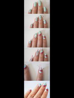Instagram atima bhatnagar color club pure energy blue and 12 amazing diy nail art designs using scotch tape geometric nails prinsesfo Images