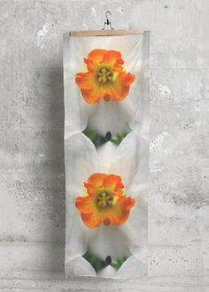 Cashmere Silk Scarf - Daffodil in Brown/Green/Orange by VIDA Original Artist Daffodil Bulbs, Daffodils, Planting Bulbs, Planting Flowers, Green And Orange, Orange Style, Benefits Of Gardening, Deciduous Trees, Orange Fashion