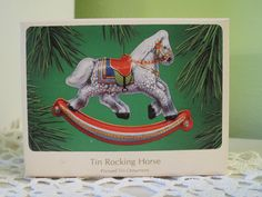 Vintage 1983 Hallmark Tin Rocking Horse Pressed Tin by DoVintique, $17.50