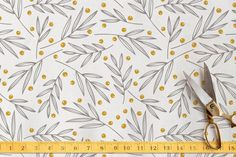 Leafy Berries Fabric by kbecca at minted.com #Minted