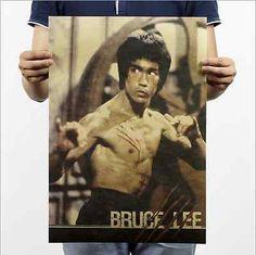 2.00  Bruce-Lee-Vintage-Wall-Chart-Home-Bar-Decor-Kraft-Paper-Retro-Poster