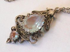 Antique Victorian Saphiret Pendant with Sterling Silver Chain | eBay