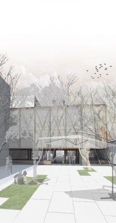 Primer Lugar Concurso Edificio Docente y de Investigación Escuela de Arquitectura UC