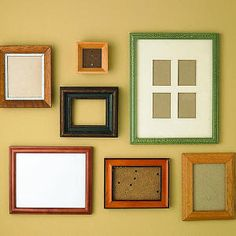 28 DIY salvage makeovers | Before: Mismatched frames | Sunset.com