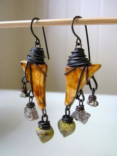My favourites!!!!!! Weltschmerz  primitive amber ceramic triangles crusty by LoveRoot, $38.00