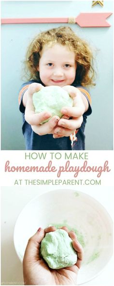 Make this easy homemade playdough recipe with your kids!