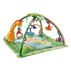 Fisher-Price Rainforest Melodies and Lights Deluxe Gym (Baby Product)By Fisher-P. Fisher-Price Rainforest Melodies and Lights Deluxe Gym (Baby Product)By Fisher-Price Baby Gym, Baby Play, Dad Baby, Baby Kids, Fisher Price, Baby Registry Items, Baby Items, Toys R Us, Activity Mat
