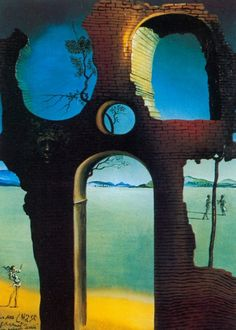 "Salvador Dali ~ ""Ruin with head of Medusa"""