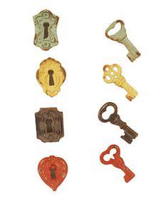 Loving this Lock & Key Magnet Set on #zulily! #zulilyfinds