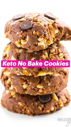 Low Carb Sweets, Low Carb Desserts, Healthy Desserts, Low Carb Recipes, Real Food Recipes, Cookie Recipes, Keto Cookies, No Bake Cookies, Comida Keto