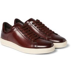 Tom Ford - Russel Polished-Leather Sneakers