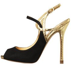 black n gold heels