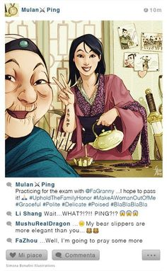 My new #selfiefables! MulanOther illustrations on my FB page :)
