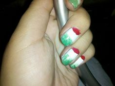 Gatita's nail art: mis uñas el día del grito-15 de septiembre