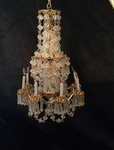 Dollhouse Miniature Artisan Electric Phyllis Tucker 8 Light Crystal Chandelier