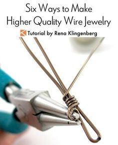 Six Ways to Make Higher Quality Wire Jewelry Tutorial by Rena Klingenberghttp://jewelrymakingjournal.com/how-to-make-an-open-wire-spiral/