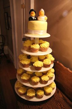 Rubber Duckie wedding cupcake stand