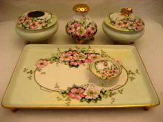 Antique Porcelain Vanity Set