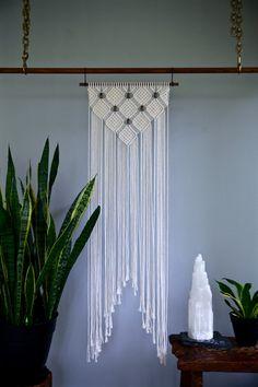 Patrón de diamante de colgante de pared cuerda de por BermudaDream