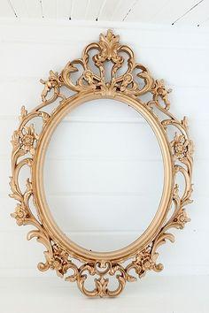 Antique Frame for Mirror / Ornate / Gold Decor Accents Antique Frames, Vintage Frames, Antique Gold, Oval Frame, Large Frames, Reception Decorations, Gold Wedding, Picture Frames, Lilac