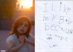 """""""I like my body because it's magic."""" - 5-year-old Sofia (aka Lola)"""