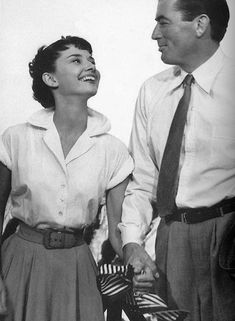 Audrey Hepburn's first movie role, and my favorite by far. Roman Holiday.
