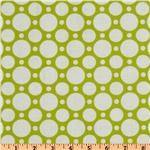 Crazy for Dots & Stripes Large Dot Lime/White