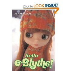 Blythe Doll Book Hello Blythe! 30 Postcards by Gina Garan, a New York based photographer and video producer, owns all of Blythe's original outfits, coveted by collectors around the world. She also makes and styles custom fashions for her muse, from scratch and from accessories culled from her collection of more than 2,000 dolls. From #amazon