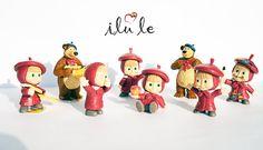 Masha and the Bear toys Mini figures cartoon series to от ToyRu
