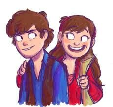 Older vers. Of Dipper and Mabel Pines by Limey 404