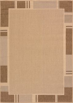 United Weavers of America Solarium Terrace Beige Indoor Outdoor Area Rug, Beige & Tan
