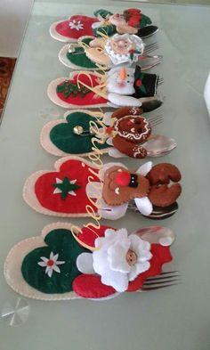 Details about Bucilla Snowman & Penguins ~ Felt Christmas Silverware Holder Kit 6 Pces - Her Crochet Christmas Table Decorations, Diy Christmas Ornaments, Felt Ornaments, Christmas Projects, Holiday Crafts, Christmas Arrangements, Happy Merry Christmas, Christmas Tea, Christmas Sewing
