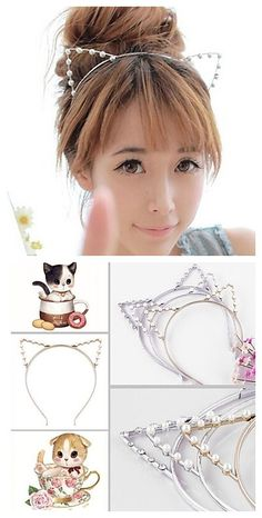 Cute like a kitty, get this cat ears headband in only $1.99.