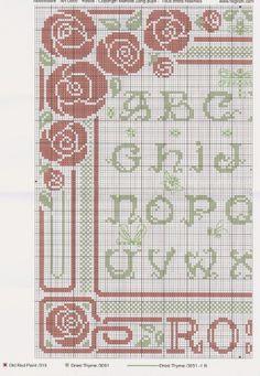 Art Nouveau Rose Sampler • 1/2 LHS Chart