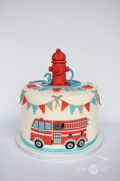 Fire engine cake More