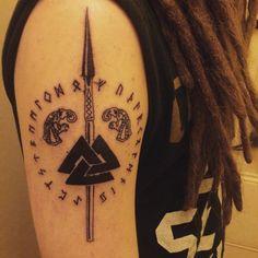 Tatuajes de Valknut y todo su oscuro y poderoso significado