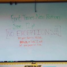And this one who has been hurt by fonts too many times. | 21 Teachers Who Need A Goddamn Vacation