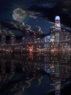 San Francisco Night, San Francisco Travel, Modern Vampires, Night City, Bay Area, Night Skies, Travelling, Northern Lights, Bridge