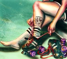 "Awesome "" Roller Derby"" artwork"