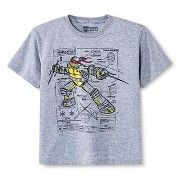 Boys' Teenage Mutant Ninja Turtles Tee Shirt Gray