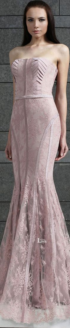 Tony Ward ~ Fall Strapless Gown, Pink 2014