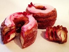 Raspberry Lychee Cronut