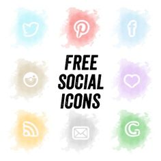 Where to Find Gorgeous Free Social Media Icons - Crafts on Sea