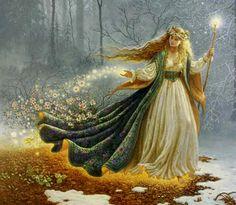 Freyja, Valhalla - La Mythologie Nordique Plus Celtic Goddess, Celtic Mythology, Brighid Goddess, Goddess Art, Goddess Pagan, Goddess Warrior, Mother Goddess, Pagan Festivals, Creation Photo